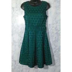 Forever 21 green asymmetric pleated dress